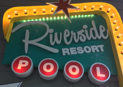 Riverside Resort Pool House Sign
