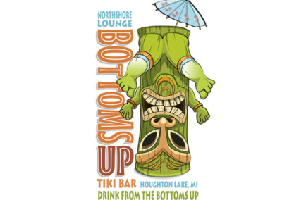 Bottoms Up Tiki Bar logo