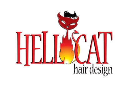 hellcat hair design logo
